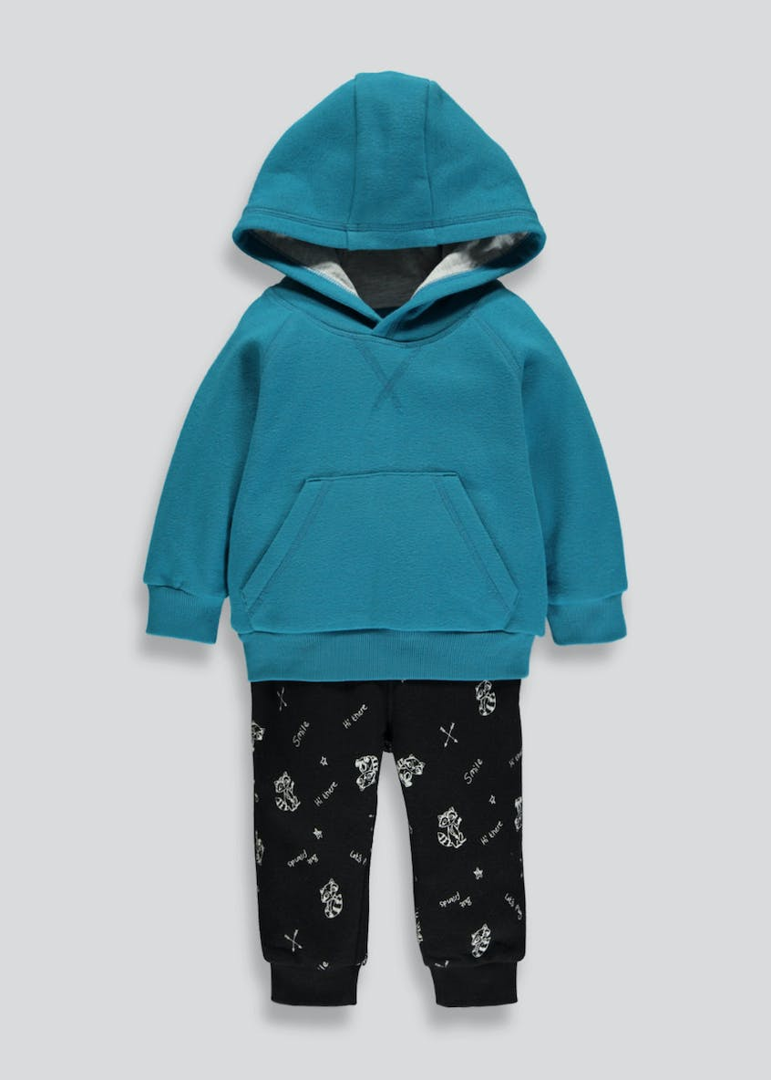 Boys Brushback Hoodie & Jogging Bottoms Set (6mths-6yrs)