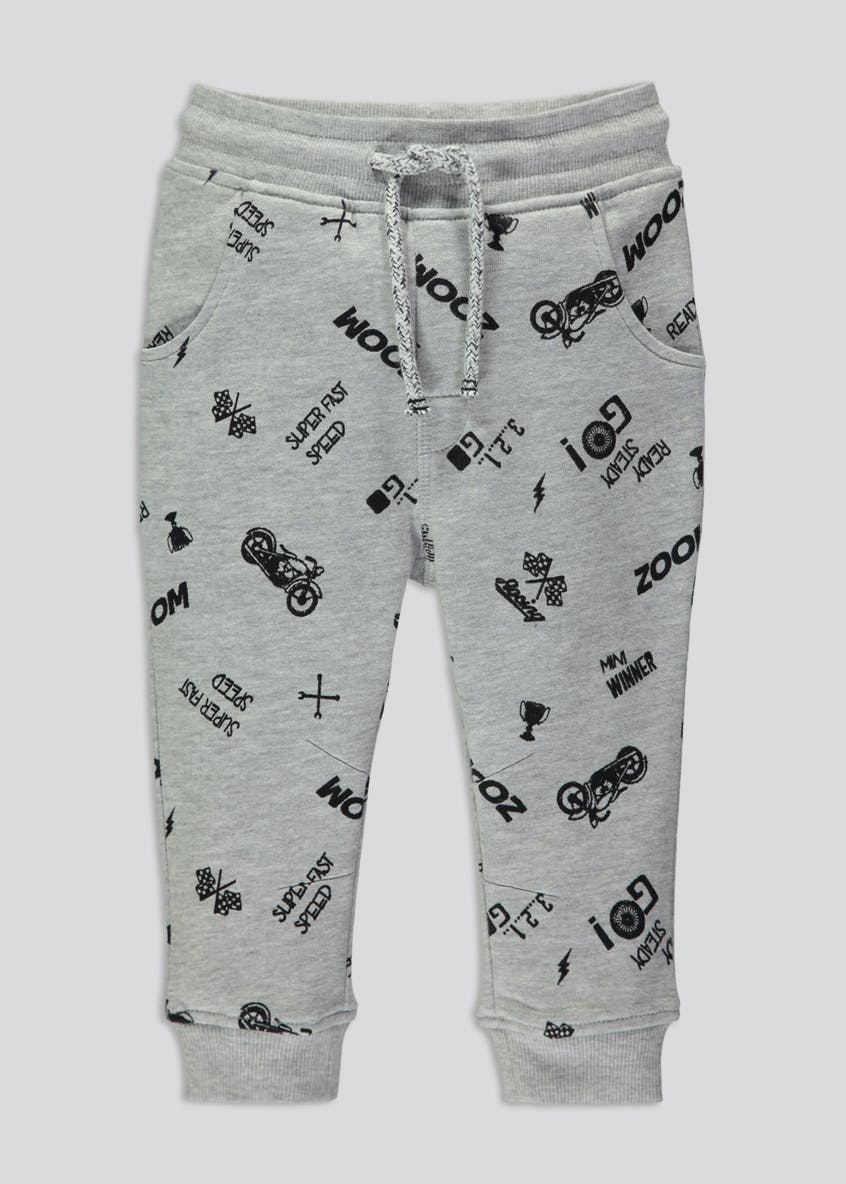 Boys Soft Brushback Jogging Bottoms (6mths-6yrs)