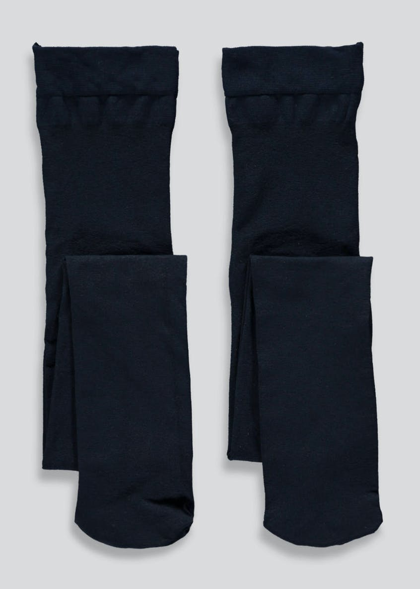 Girls 2 Pack Opaque Tights (6-13yrs)