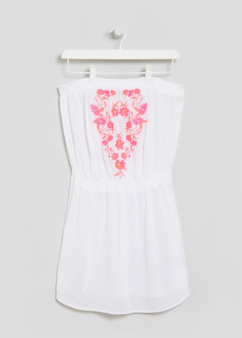 Embroidered Crinkle Bandeau Tunic