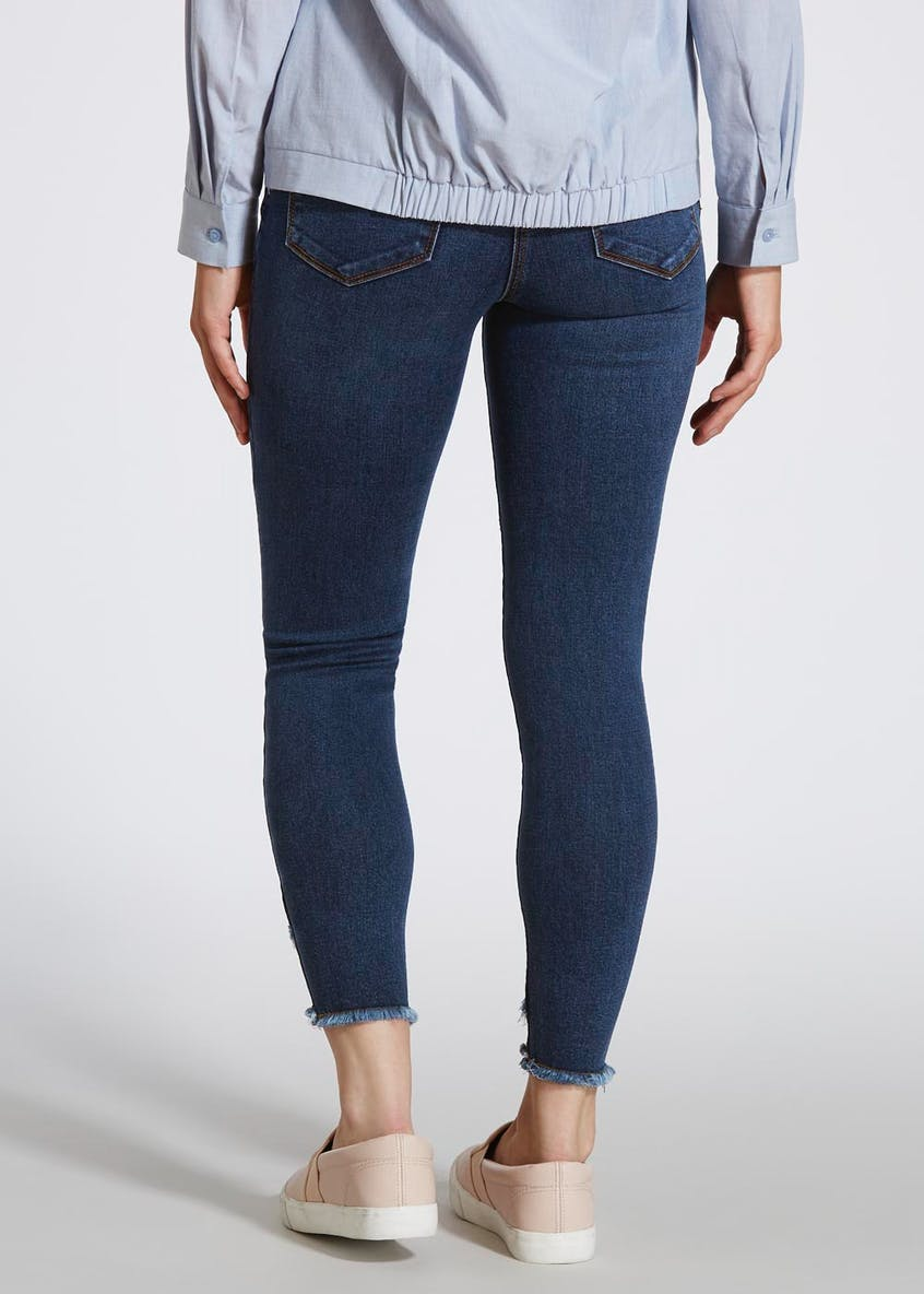 April Ruffle Hem Super Skinny Jeans