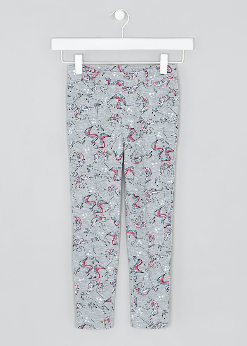 Girls Unicorn Loopback Leggings (4-13yrs)