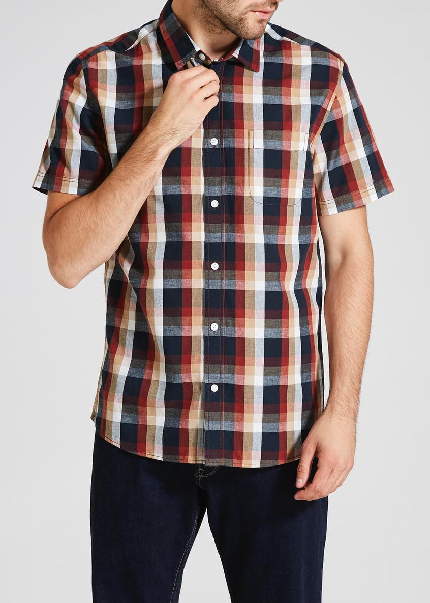 Big & Tall Short Sleeve Check Shirt
