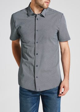 Big & Tall Short Sleeve Geometric Print Shirt