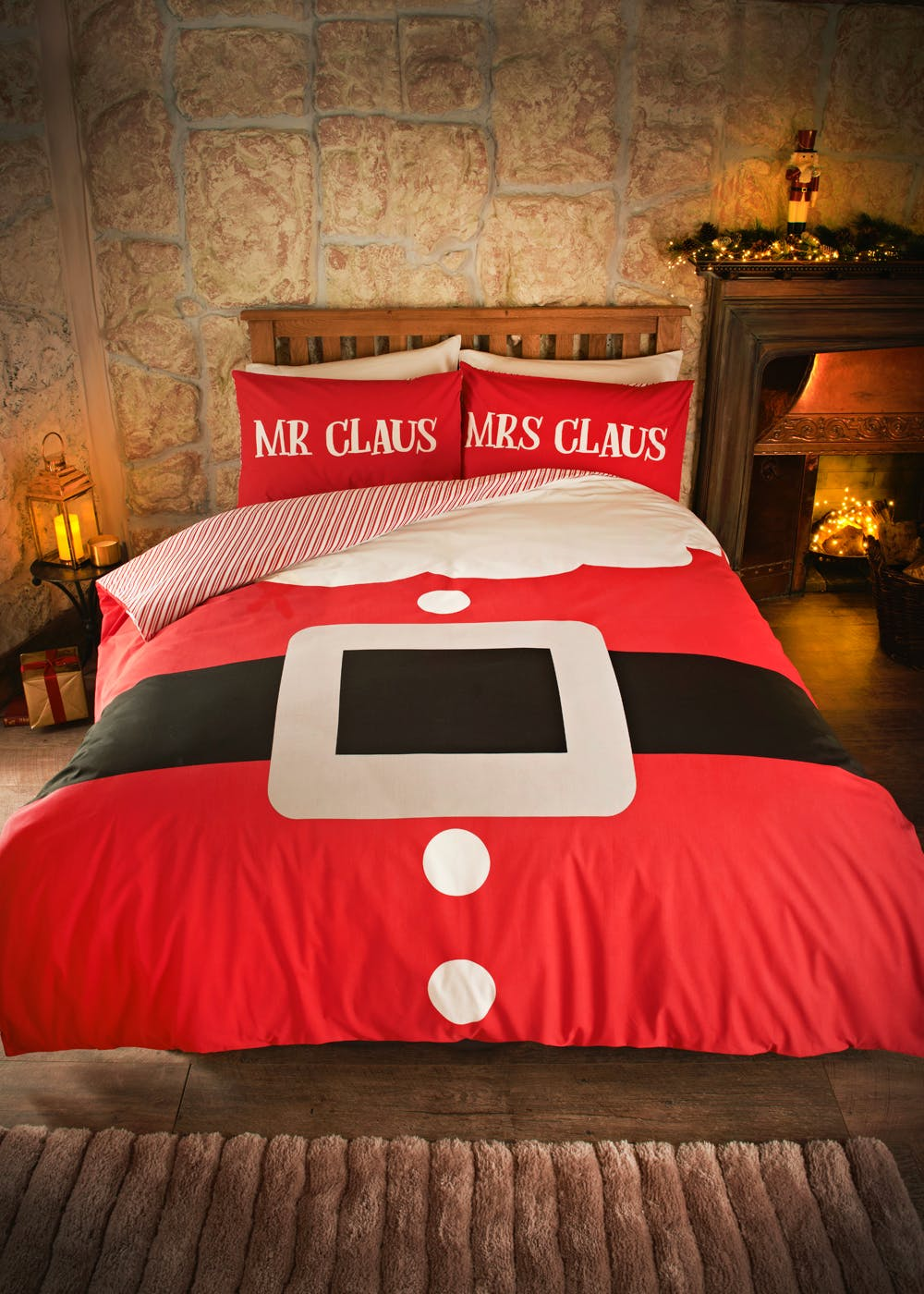 Mr Amp Mrs Claus Christmas Bedding Set Red Matalan