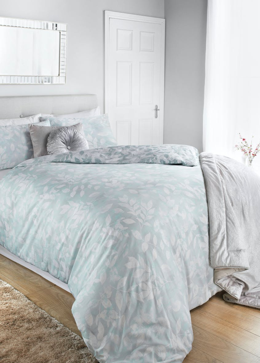 100% Cotton Frosted Leaf Print Duvet Cover
