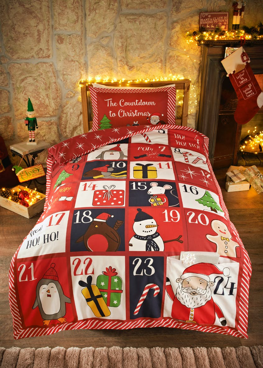 Kids Advent Calendar Christmas Bedding Set (Single)