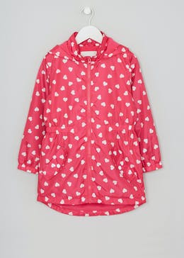 Girls Heart Lightweight Mac (4-13yrs)