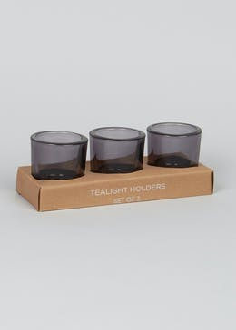 Set of 3 Tealight Holders (6.5cm x 6.5cm x 6cm)