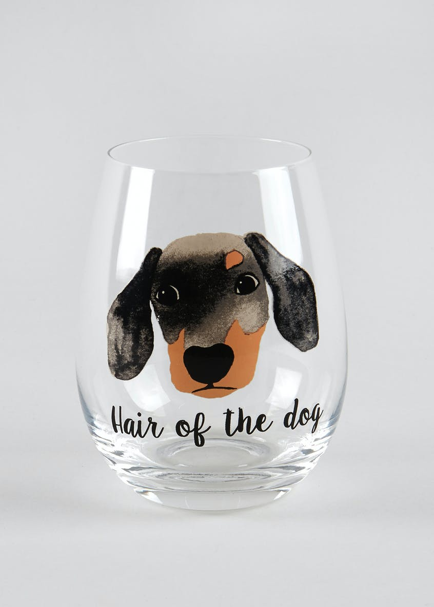 Dog Slogan Glass (12cm x 7cm)