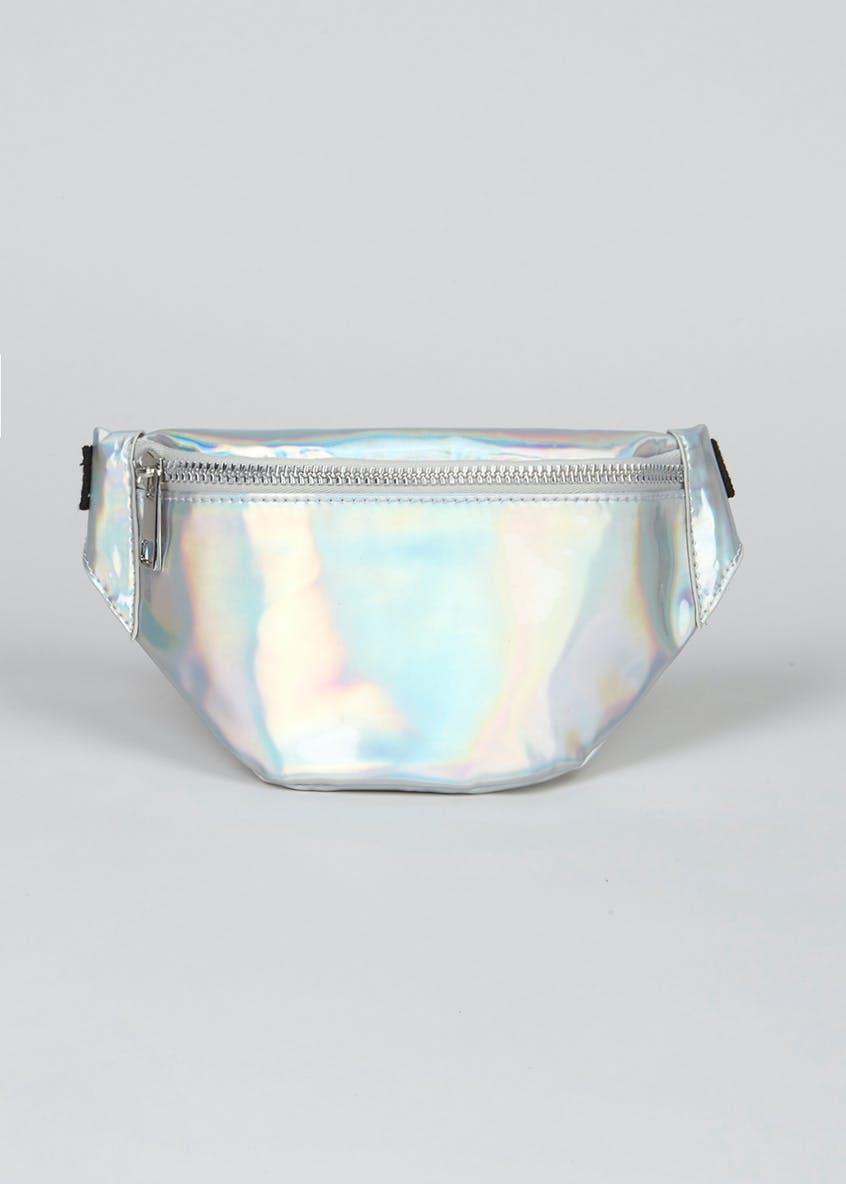 Girls High Shine Iridescent Bum Bag