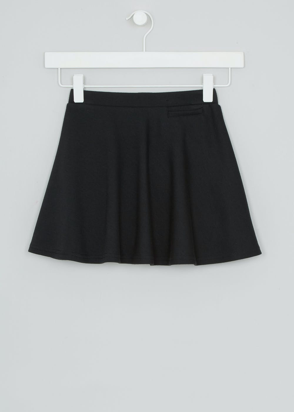 e096a75f32 Girls Jersey Skater School Skirt (4-16yrs) – Black – Matalan