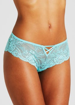 Cross Front Lace High Leg Knickers