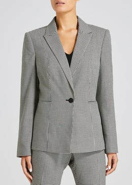 Dogtooth Check Suit Jacket