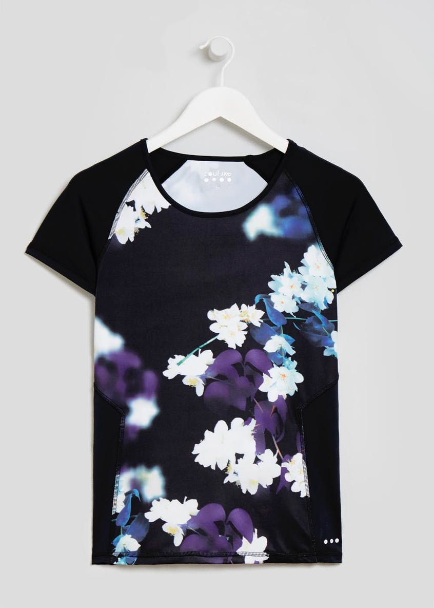 Souluxe Orchid Print Gym T-Shirt