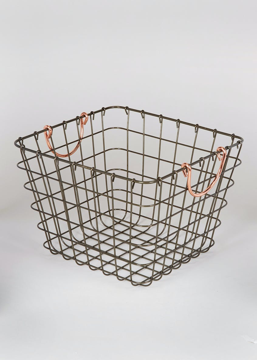 Wire Storage Basket (28cm x 26cm x 20cm)