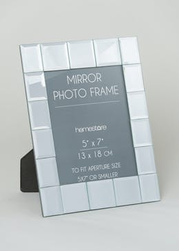 Glass Mirror Photo Frame (23cm x 18cm)
