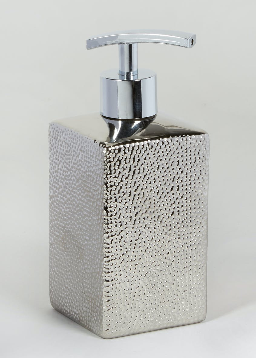 Hammered Soap Dispenser (17cm x 7cm x 7cm)
