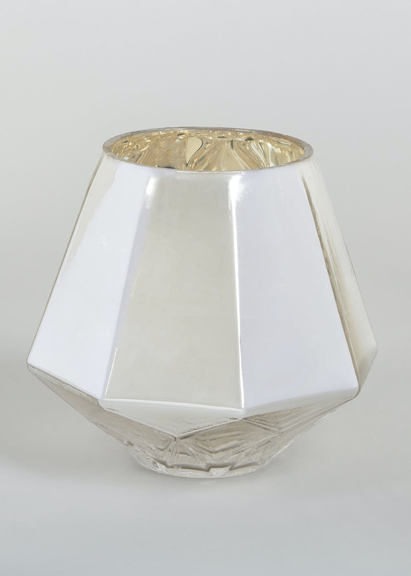Geometric Metallic Tealight Holder (13cm x 13cm x 12cm)