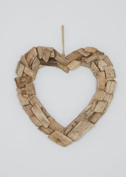 Driftwood Heart Decoration (52cm x 51cm x 7cm)