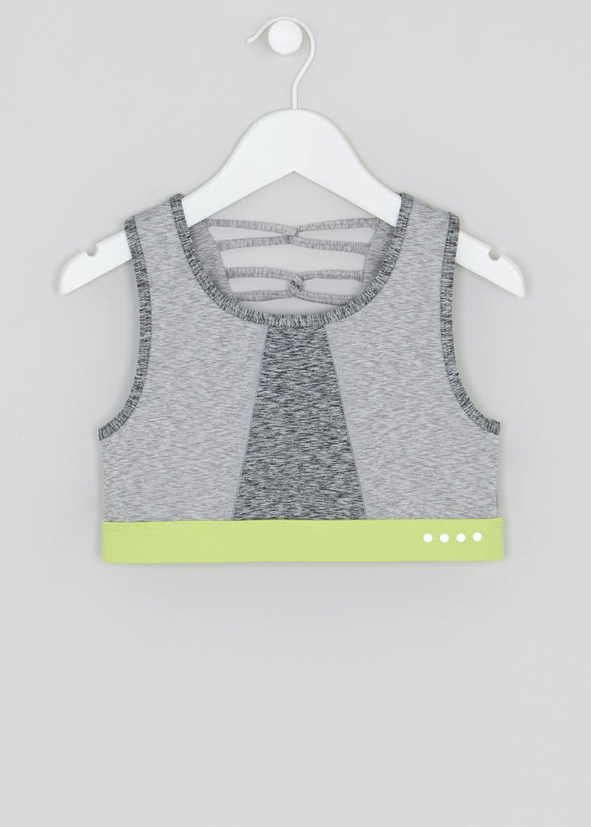 Girls Souluxe Marl Sports Crop Top (9-13yrs)