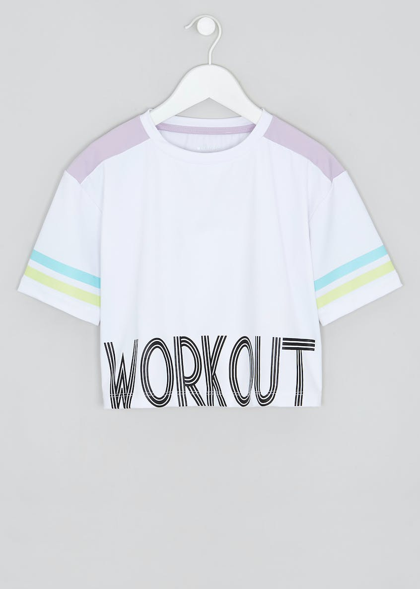 Girls Souluxe Workout Sports Crop Top (9-13yrs)