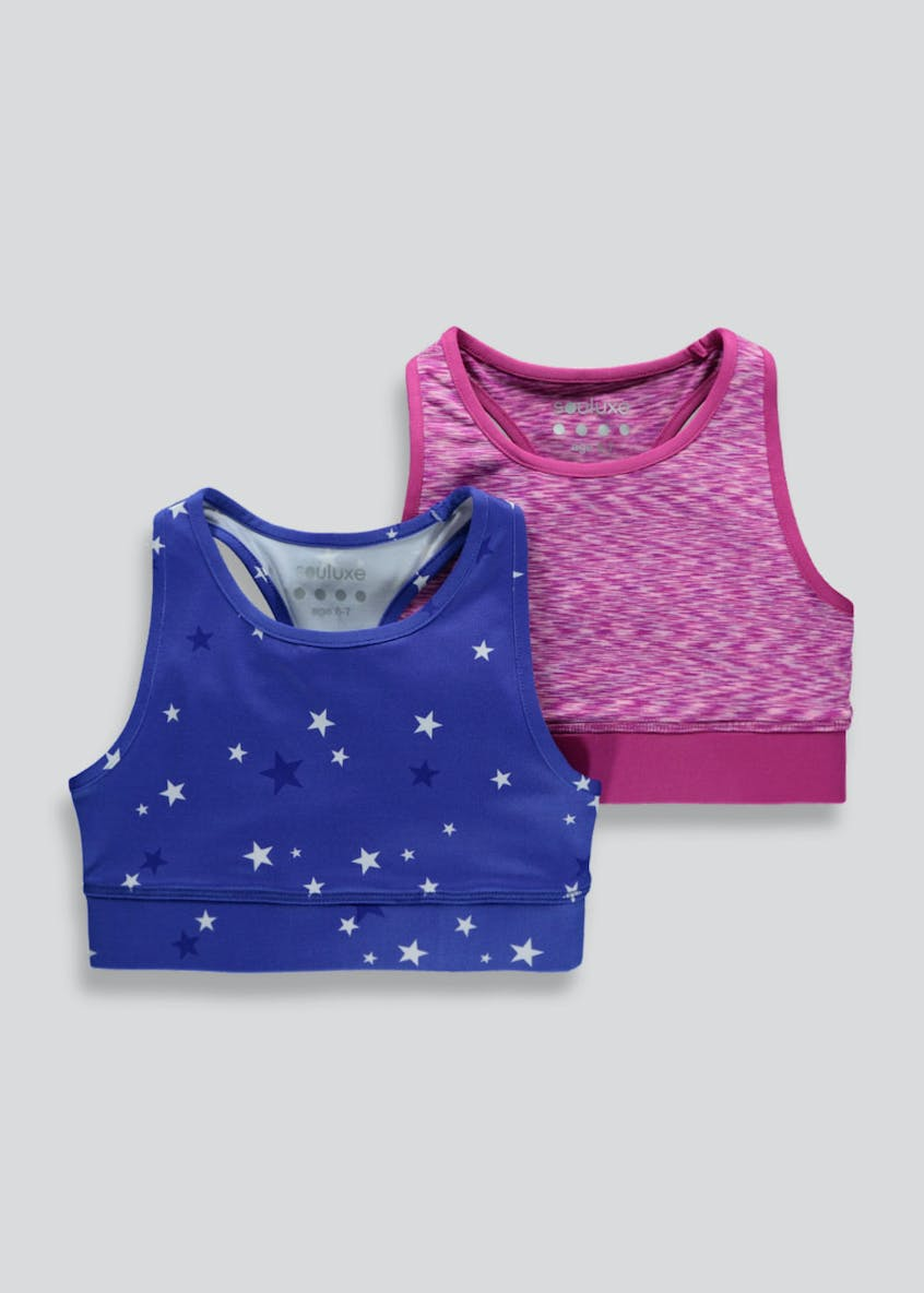 Girls Souluxe 2 Pack Crop Tops (4-13yrs)