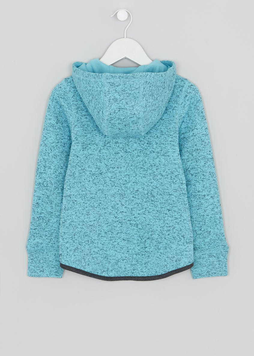 Girls Souluxe Knitted Fleece Zip Through Jacket (4-13yrs)