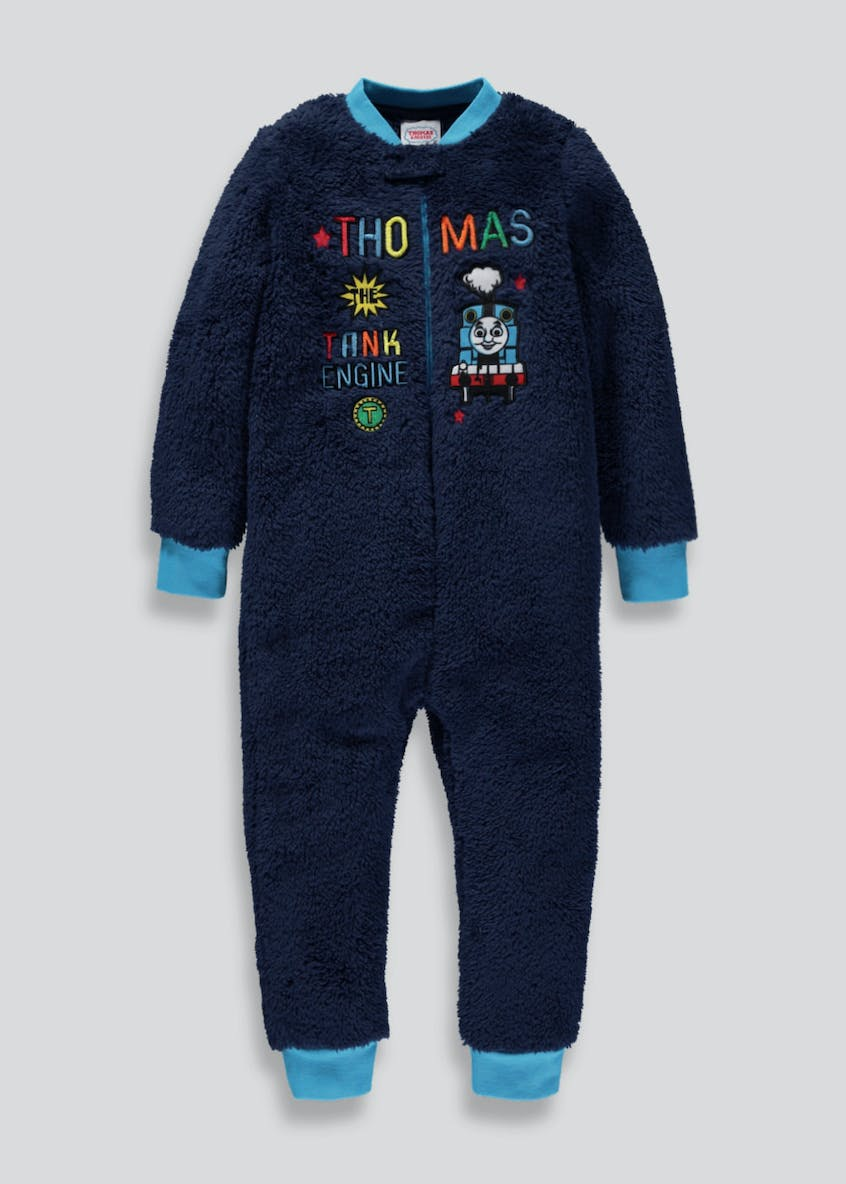 Kids Thomas the Tank Engine Sherpa Onesie (9mths-5yrs)