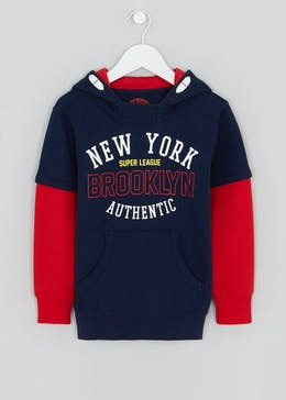 Boys New York Double Layer Hoodie (4-13yrs)