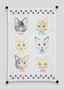 Cat Print Tea Towel (65cm x 45cm)