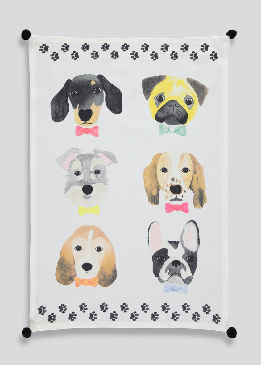 Dog Print Tea Towel (65cm x 45cm)