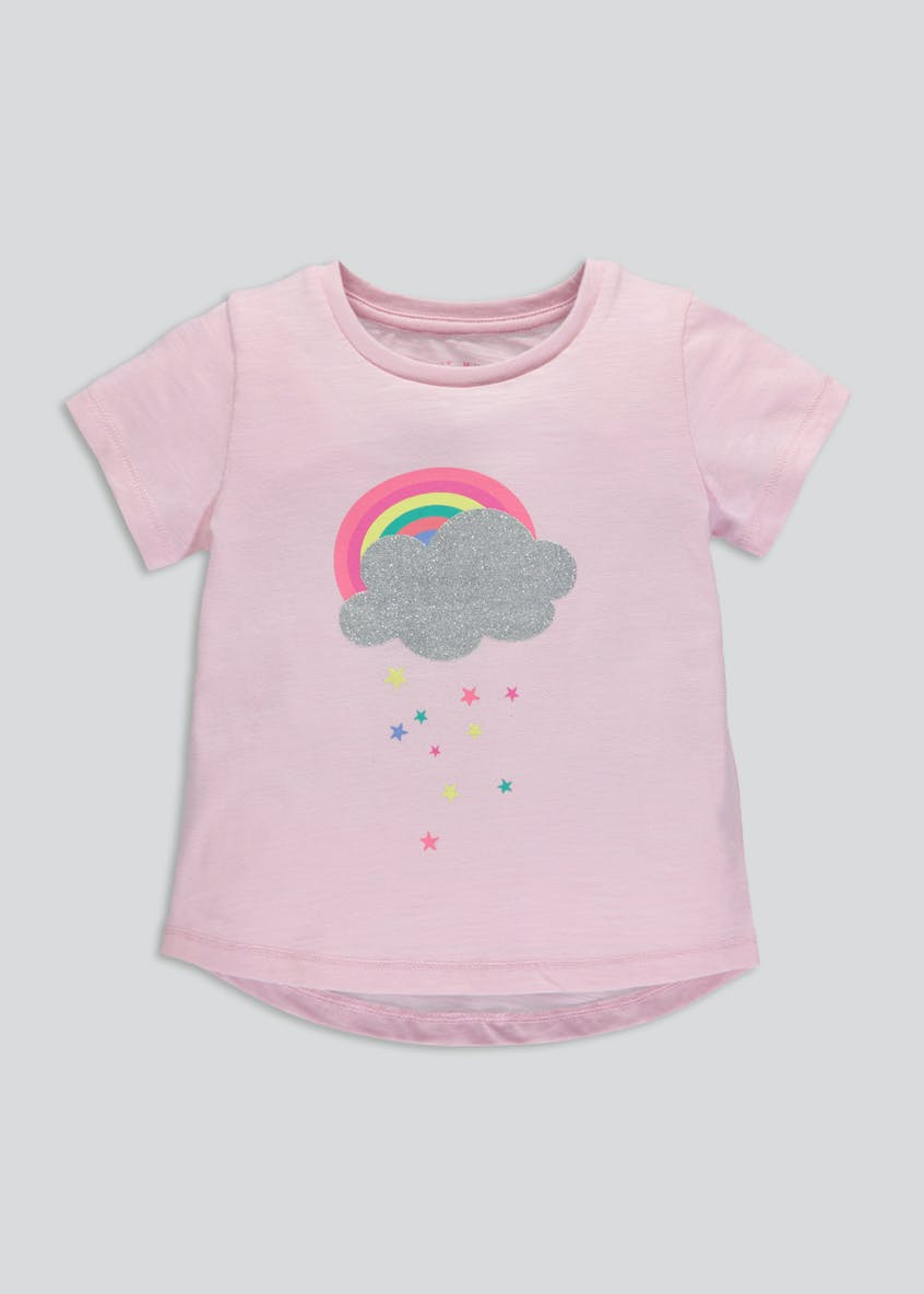 Girls Rainbow & Cloud T-Shirt (3mths-6yrs)