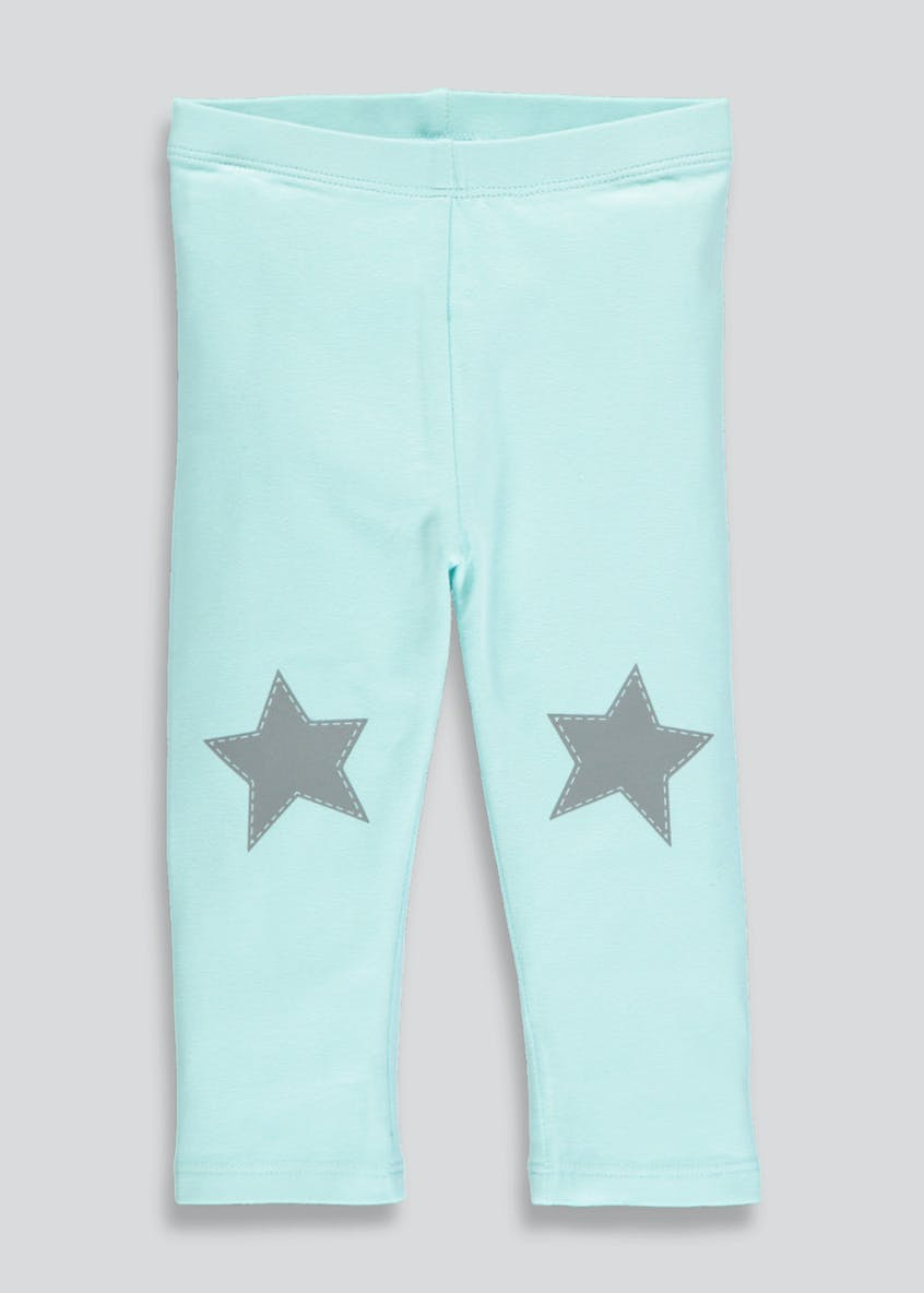 Girls Star Patch Leggings (3mths-6yrs)