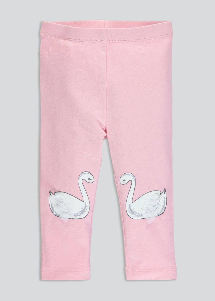 Girls Swan Leggings (3mths-6yrs)