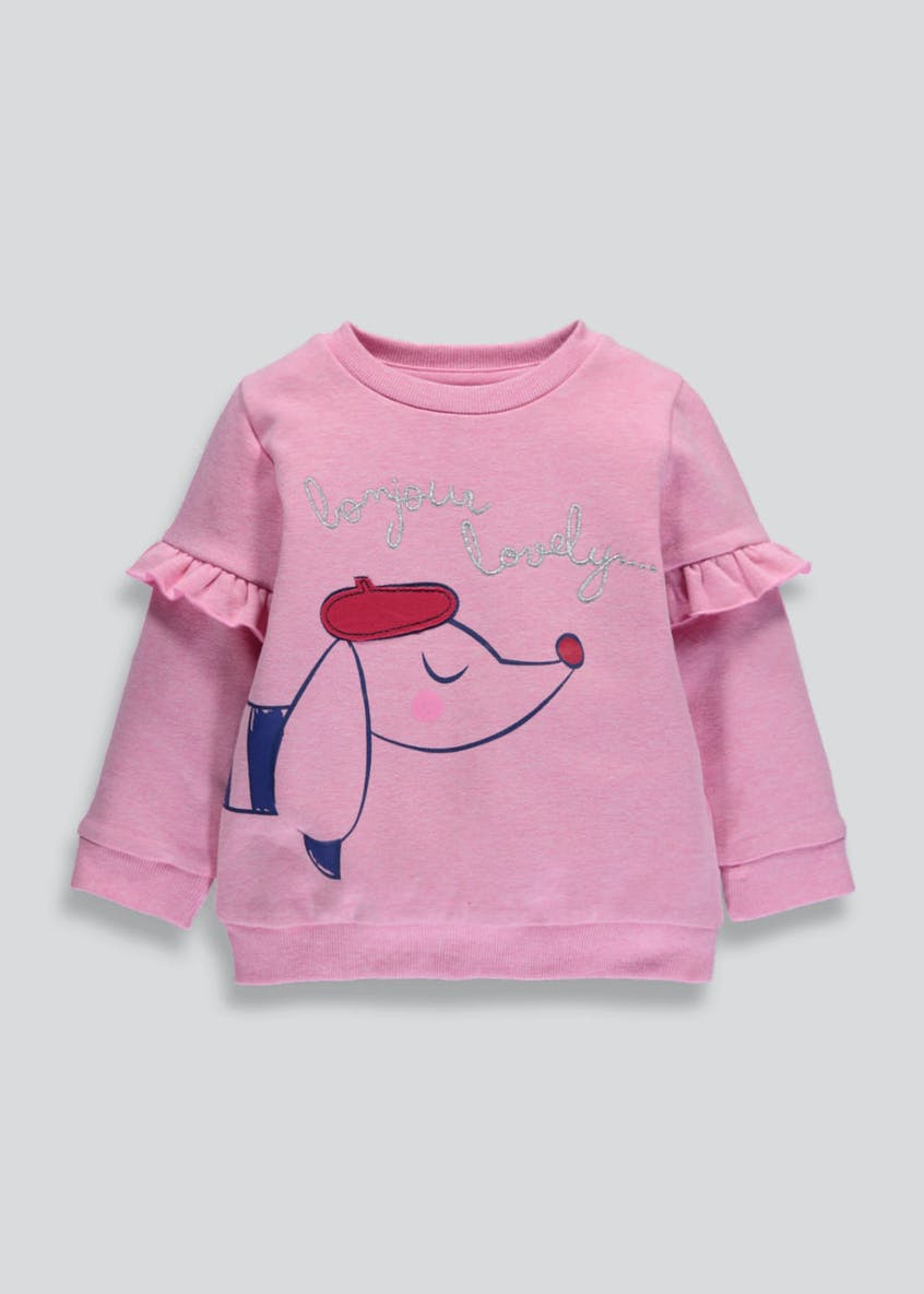 Girls Sausage Dog Sweatshirt (3mths-6yrs)