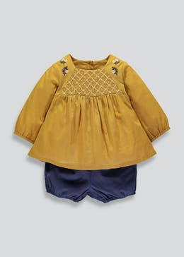 Girls Embroidered Tunic & Shorts Set (Newborn-18mths)
