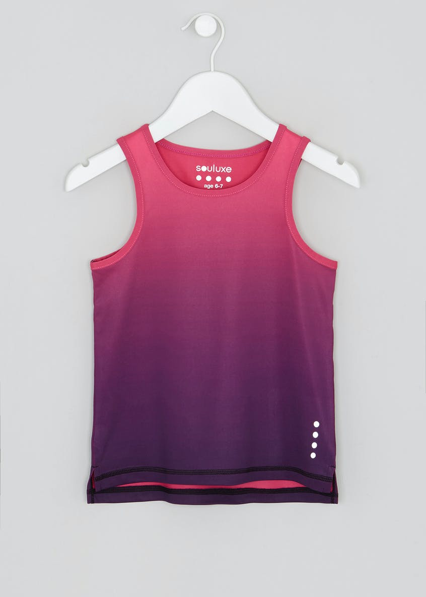 Girls Souluxe Ombre Sports Vest (4-13yrs)