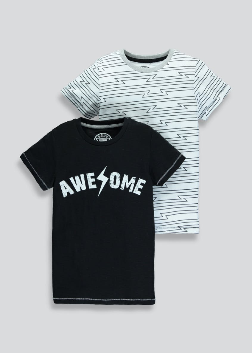 Boys 2 Pack Awesome T-Shirts (4-13yrs)