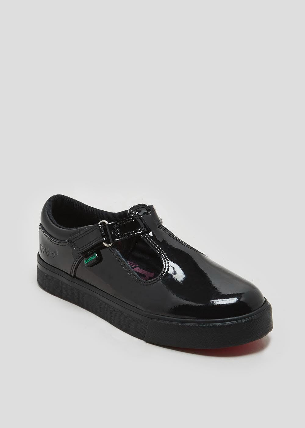 c836aadcc3 Girls Kickers Tovni T Patent School Shoes (Younger 5-Older 6 ...