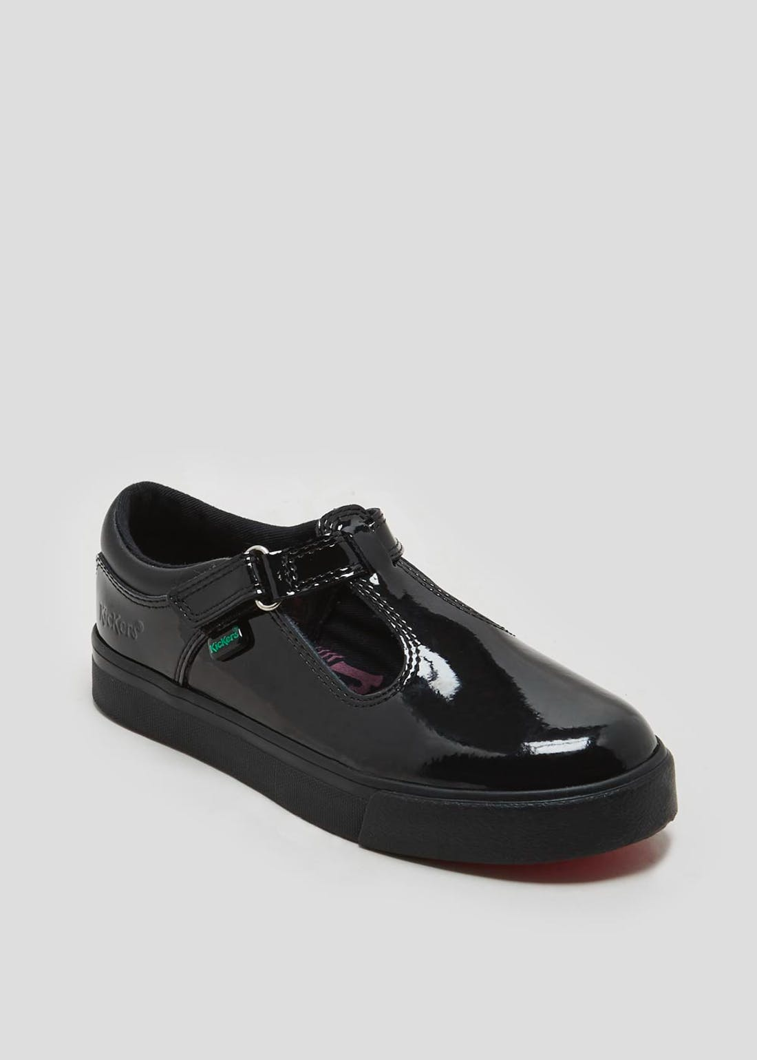 Girls Kickers Tovni T Patent School Shoes (Younger 5-Older 6)