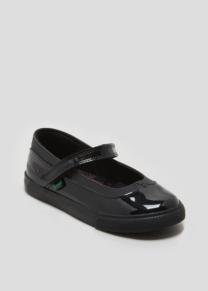 Girls Kickers Tovni MJ Patent School Shoes (Younger 5-Older 2)