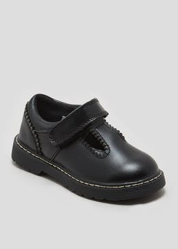 Girls Real Leather T-Bar School Shoes (Younger 6-Older 2)