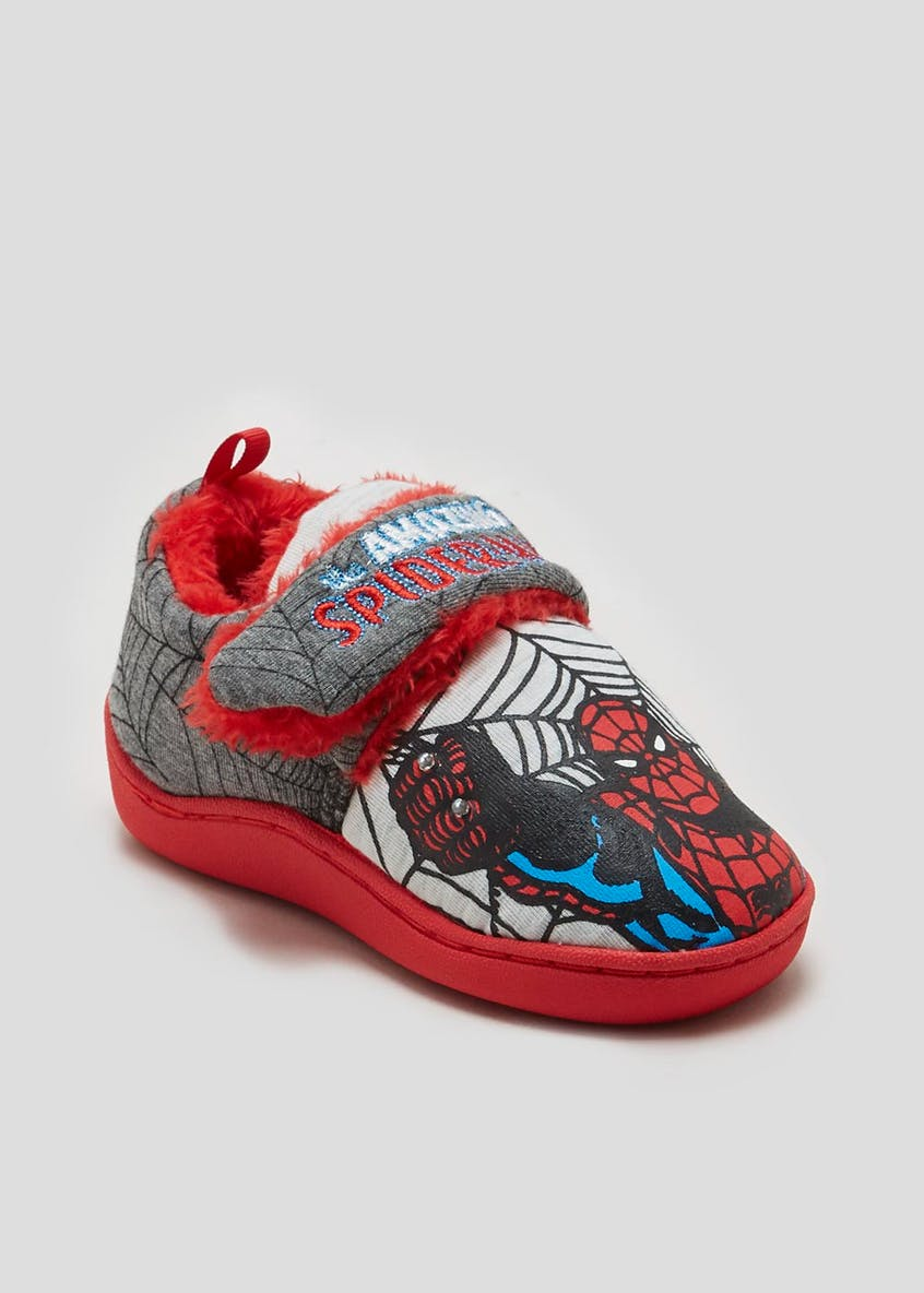Kids Spider-Man Light Up Slippers (Younger 6-13)