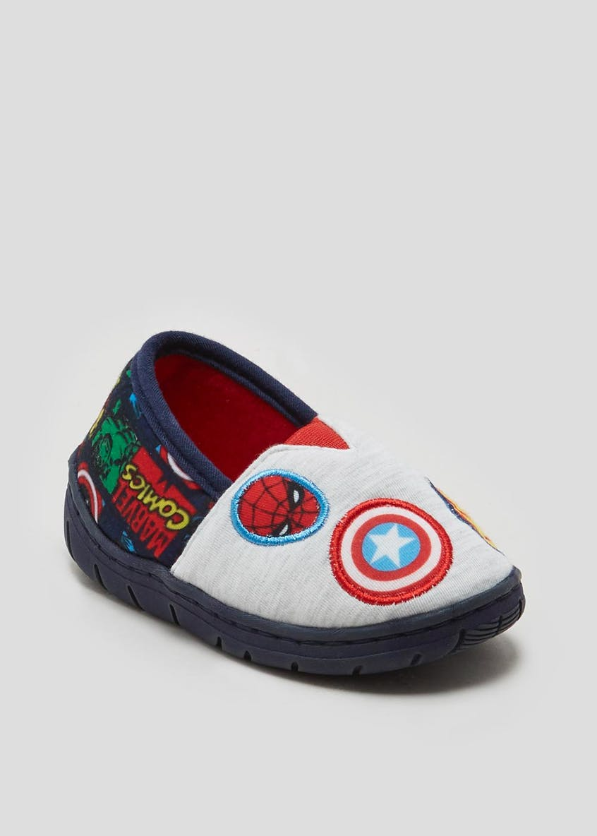 Kids Marvel Comics Slippers (Younger 7-13)