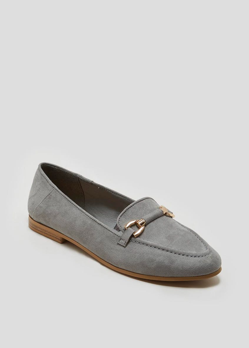 Wide Fit Metal Bar Loafers