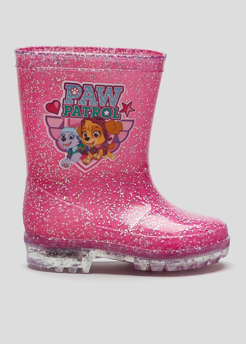 Kids Paw Patrol Light-Up Wellies (Younger 4-12)