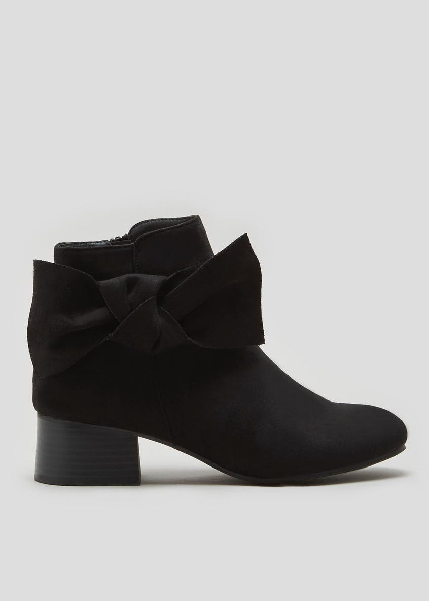 Bow Detail Ankle Boots