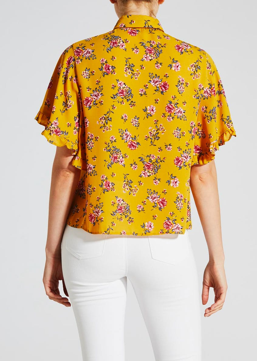 Floral Pussybow Shirt