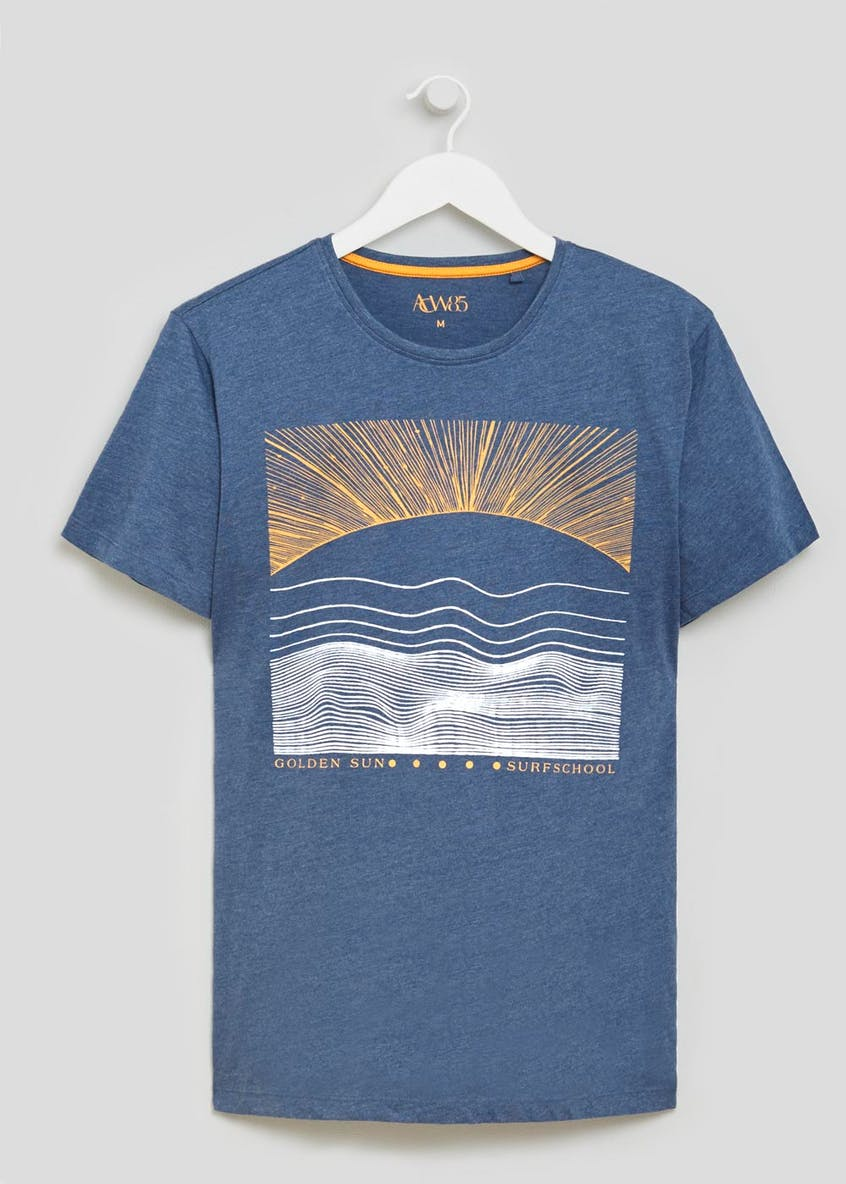 Sunrise Graphic Print Marl T-Shirt
